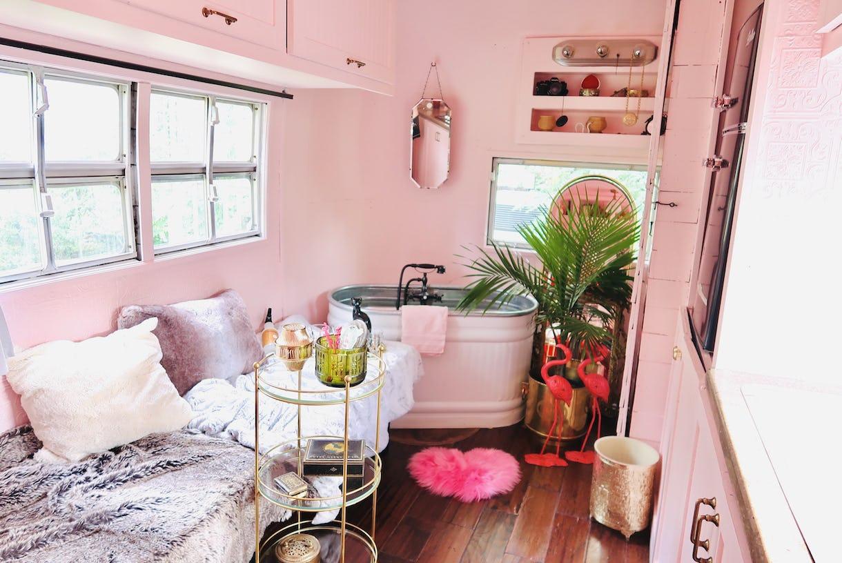 Vintage 1963 Airstream Pale Pink Paradise
