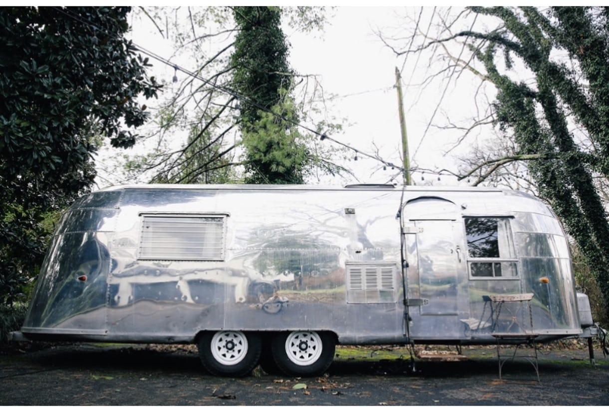 Vintage 1954 Airstream Whale Tail
