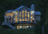 Modern Farmhouse Style Chalet with amazing Kentucky Lake views - Dock, Hottub and Firepit!
