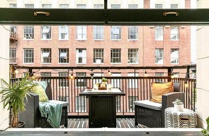 Sun-Drenched Downtown NY Style Loft w/ Skyline Views & Balcony