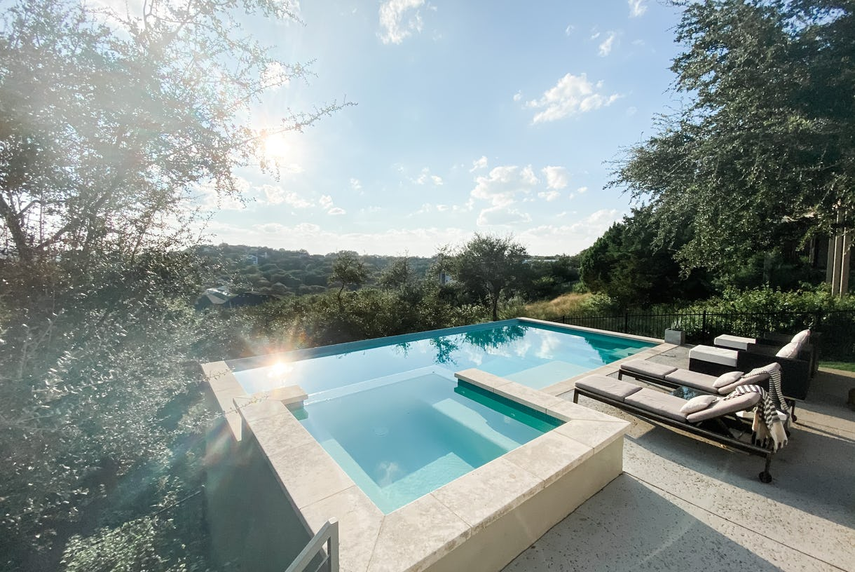 Pool with a View! Modern light-filled home with 2 decks