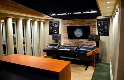 Blue Grotto Sound - a sleek, high end boutique recording studio with natural light