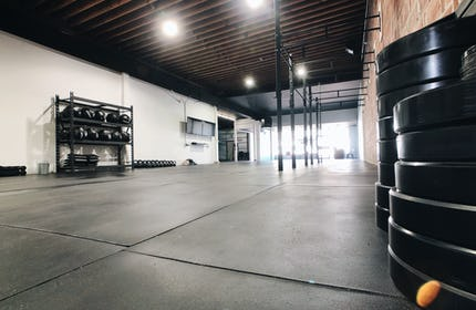 New Gym with Exposed Brick