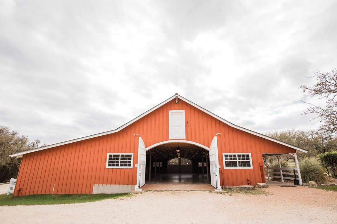 Big Red Barn in the Heart of the Texas Hill Country